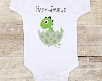 Baby Saurus cute dinosaur baby bodysuit baby shower gift - Made in USA - toddler kids youth shirt