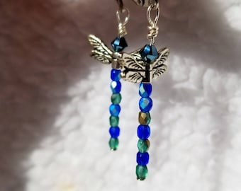 Swarovski Dragonfly Earrings