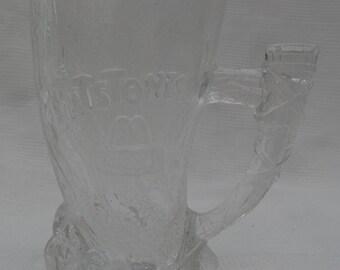 "Vintage 1993 Flintstones Glass 'Mammoth Mug' from McDonalds-4.5"" Tall"