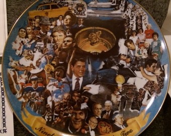 "1982 Memory Mural Plate Alton Tobey Ghent Collection 12"" Mint Undisplayed"