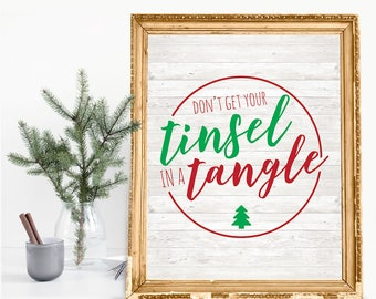 Don't Get Your Tinsel In A Tangle Holiday Print