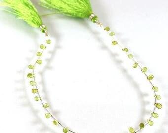 """VG-216 Natural Peridot,AAA Peridot, Peridot Gemstone, Faceted Peridot, 3x5mm Peridot Beads,9.5""""Long Peridot Strand For Making Jewelry VG-216"""