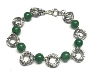 Möbius flower bracelet- small bead version