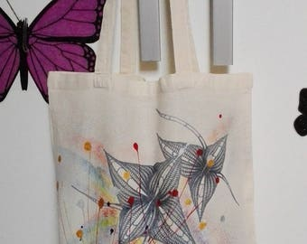 Hand painted cotton bag-100% cotton-gift idea-shopping bag