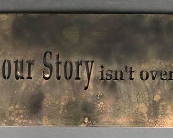 """Your Story - 12""""x24"""" Metal Wall Art"""