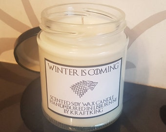 Winter is Coming - Soy Wax Scented Candle 8oz Container