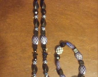 Black Necklace & Bracelet set