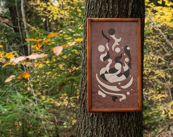 Wooden Picture - Abstract Intarsia