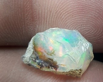 3.80 Ct A+++ Quality 100 % Natural Ethiopian Opal Multi Fire Rough Size 10x14 Mm Loose Gemstone 483