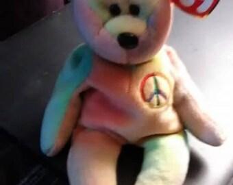 Peace Ty Beannie Bear