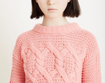 Nontraditional Cable Knit Sweater