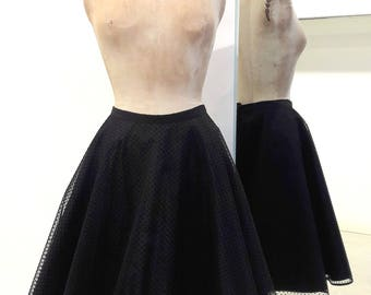 Round skirt in tulle