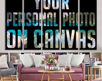 5 panel custom photo on canvas, Your photo on canvas print, Request custom order, Wall art, Canvas print, Home decor ideas, Wall decor ideas