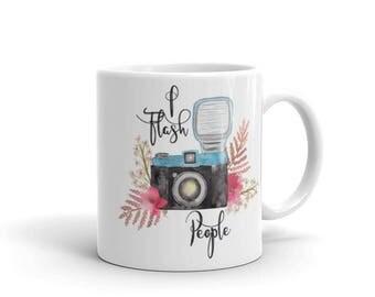 Photographer Mug / I Flash People Vintage Camera Mug / Funny Photographer Gift