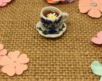Chamomile tea cup stitch marker