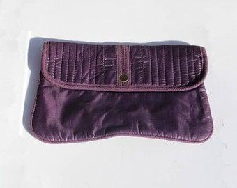 80s Purple Clutch