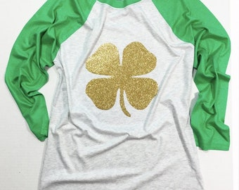St. Patrick's Day Shirt, St. Paddy's Day shirt, St Patrick's Day Glitter shirt