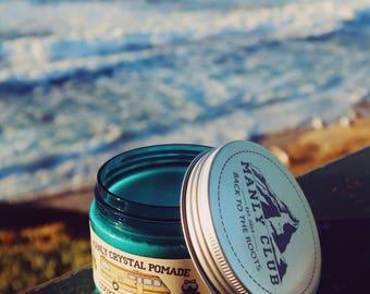 MANLY CLUB Hair Crystal Pomade Organic Premium Hand Made WaterBase Styling MediumHold MediumShine