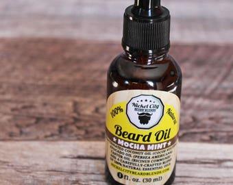 Beard Oil - Mocha Mint (100% Natural and Handmade)