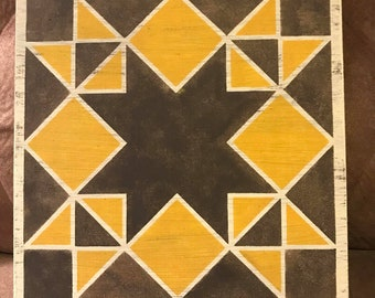 Barn Quilt Wood Sign