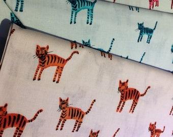 Cotton + Steel OOP Cat Fabric, Fat Quarter Set of 3