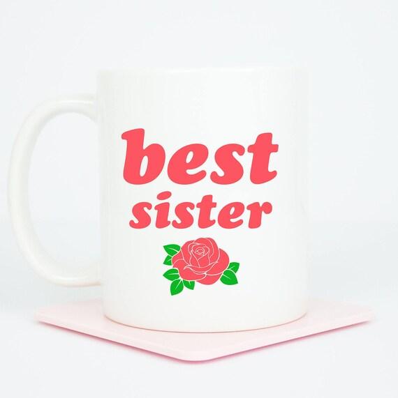 Best Sister mug, personalised lovely gift for any sister, lovely gift, the back can be personalised, best sister birthday gift