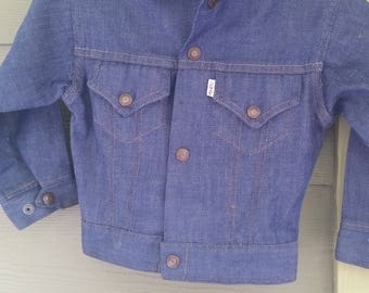 Vtg. 60s 70s Levis Children's Kids Jean Jacket Size 6