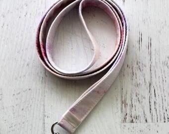 Pink lanyard - 3/4 inch wide lanyard - marble print -  pink key lanyard - pink ID holder - key lanyard - teachers lanyard - Work ID lanyard
