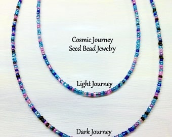 Seed Bead Necklace - Cosmic Journey Mix - Long Layering Necklace, Everyday Beaded Jewelry, Bracelet, Anklet, Boho Necklace by LoveThemBeads