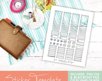 Transparent Sticker Template - ECLP Weekly Sticker Kit - Cut File for Cricut & Silhouette Included! Planner Stickers, ECLP, Filofax, Kikki K