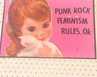 Punk Rock Feminism Rules  2  VINYL STICKER