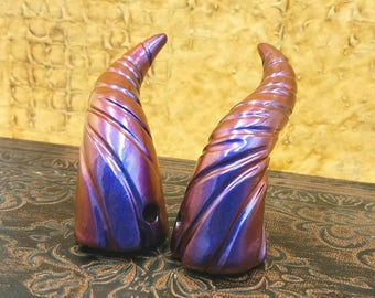 Solis Blue/Violet/Red Mini Dragon Fairy Costume Horns - Made to Order