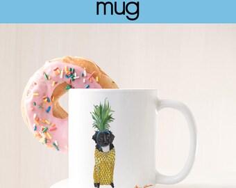 Cute Dachshund Gift, Pineapple Gift For Her, Pineapple Decor Gift, Dog Lover Gifts For Women, For Men, Dachshund Mug, Coffee Mug Cute Gift