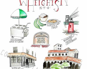 """Some Awesome Things About Washington Heights 8x10"""" Print"""