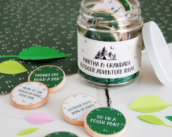 Grandad's Outdoor Adventures Ideas Personalised Jar - Grandfather's Day Gift - Personalised Father's Day - Adventure Jar