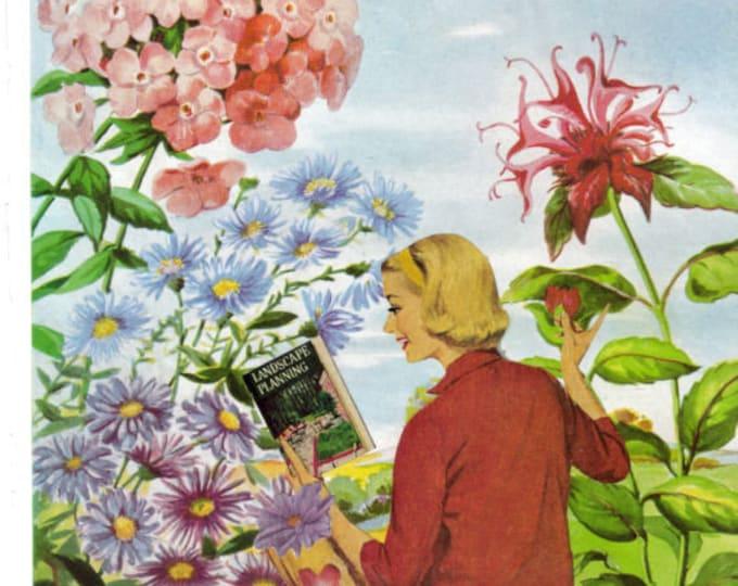 Flower Garden Art, Cottage Decor, Floral Artwork