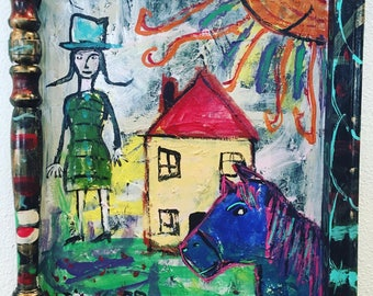 Chagall Horse Photobomb