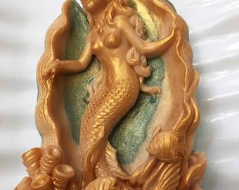 Mermaid Soap, Ocean Soap, Vegan Soap, Handmade Soap, Beach House Soap, Bar Soap, Rustic Beach, Mermaid Decor Birthday, Rustic Mermaid