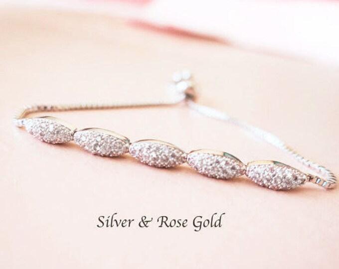 Bridesmaid Crystal Bracelet Grade AAA Cubic Zirconia TWANA