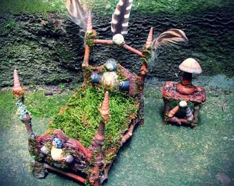 Sea Sprite Ocean Fae Bedroom Set, mermaid, seaside style, ready to ship