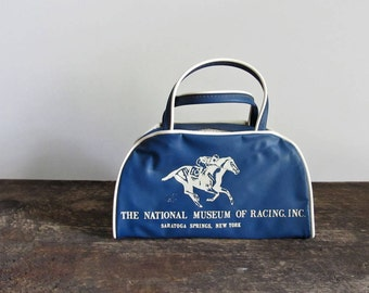 Vintage National Museum of Racing Saratoga Springs Children's Tiny Vinyl Bag