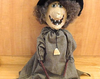 Halloween Witch Doll Primitive Shelf Sitter Holiday Fall Decoration
