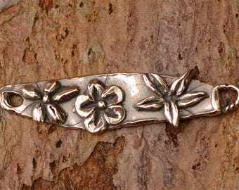 Flower Bar Link in Sterling Silver, LL-683, S/1