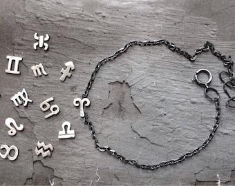 Zodiac Bracelet - Aries Taurus Gemini Bracelet - Zodiac Jewelry - April May June Jewelry - Astrology Jewelry - Sterling Silver Bracelet