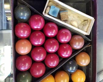 1930's Billiard Balls, Pool Balls, Jelks of London Billiards, Game Balls, Everything for Billiards, Crystalate Billiard/Snooker, Game Balls
