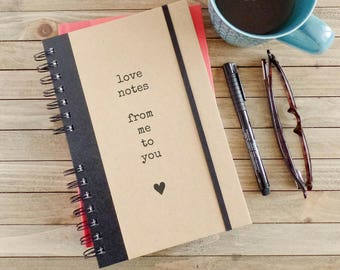 Love Journal Notebook Engagement Gift Couples Gift for Girlfriend Boyfriend Gift Anniversary Gift Love Notes LN2