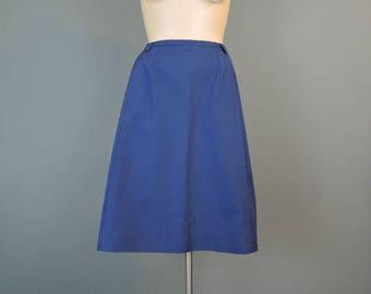 Vintage Dark Navy Blue Skirt, 29 inch Waist, 1960s