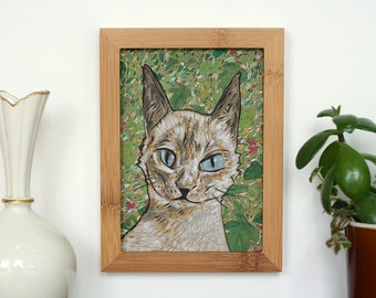 Original Painting Siamese Jungle Cat by Bret Pendlebury