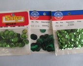 Green sequins,  sequins, lot sequins, sequins, flat sequins, semi cupped sequins,