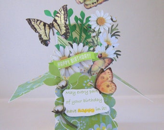 Box Card - Birthday Pop Up Card - Card in a Box